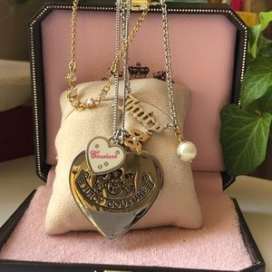 Juicy Couture 3 in 1 Necklace with Charms